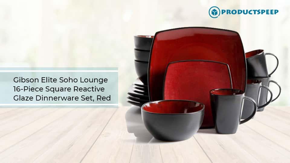 Gibson Elite Soho Lounge Red Dinnerware set