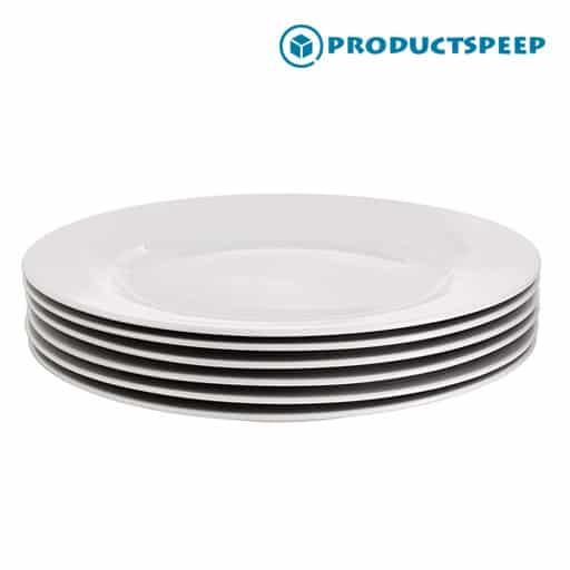Best white dinner plate sets - AmazonBasics 6-Piece White Dinner Plate Set