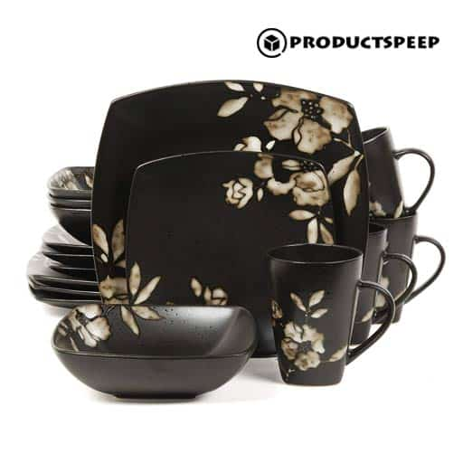 Golden and Black Square Dinnerware Sets
