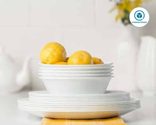 Corelle white dinnerware sets – Corelle Service for six, Chip Resistant, Winter Frost White Dinnerware Set, 18-Piece