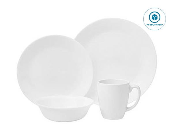 Corelle Livingware 16-Piece white Dinnerware Set, Winter Frost White, Service for 4 [DISCONTINUED]