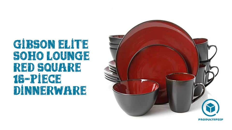 Gibson Elite Soho Lounge Red Square 16-Piece Dinnerware Set Review