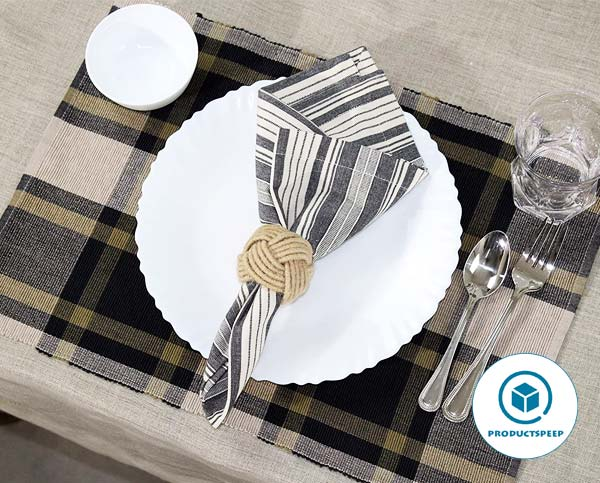 COTTON CRAFT – 4 Pieces Placemats  - Placemats for square table