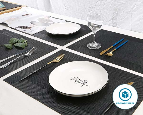 DOLOPL Placemat Black Placemats set for dining table