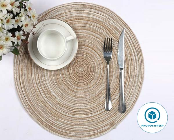 SHACOS Round Braided Placemats